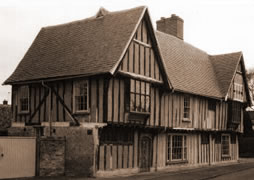 tudor house brick & timber